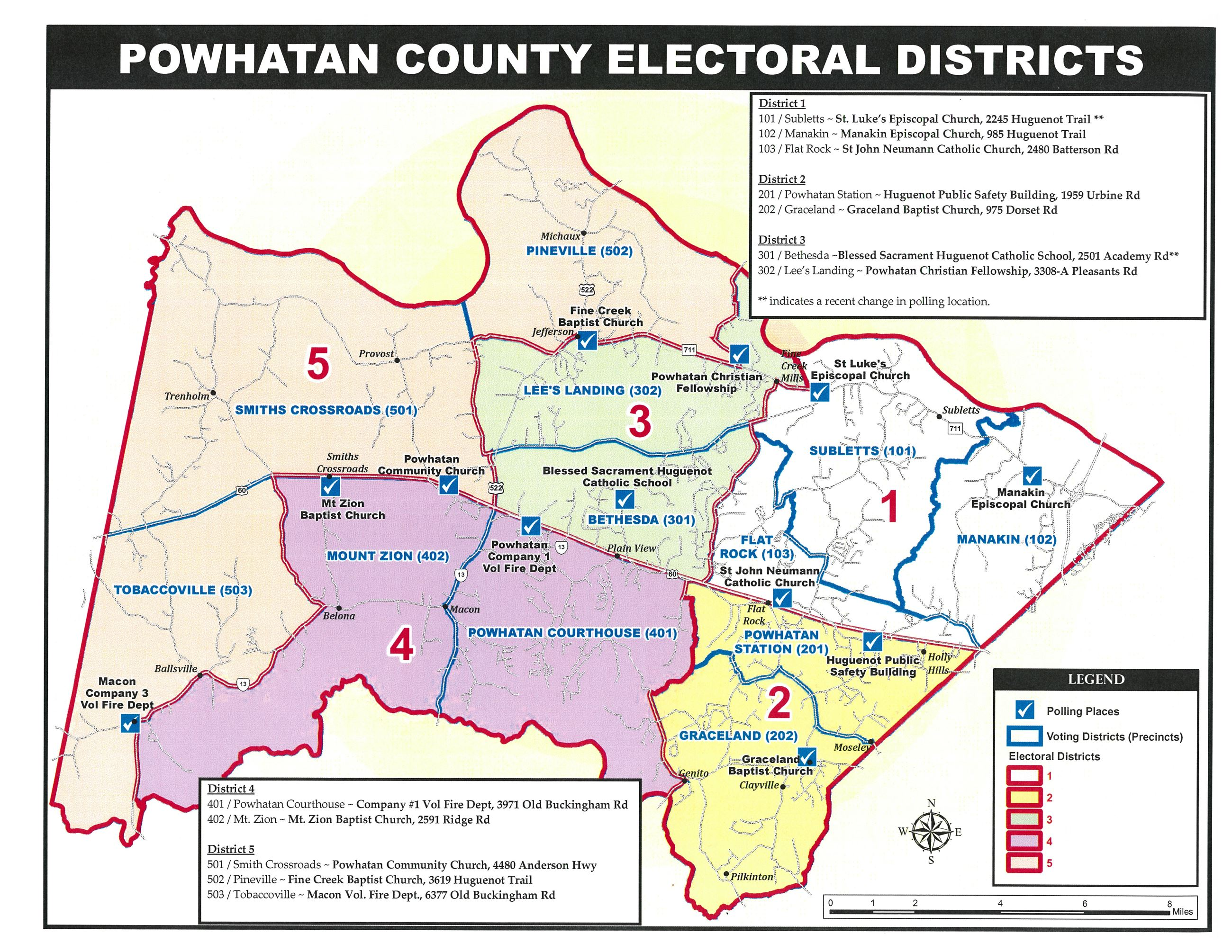 Powhatan County Electoral District Map