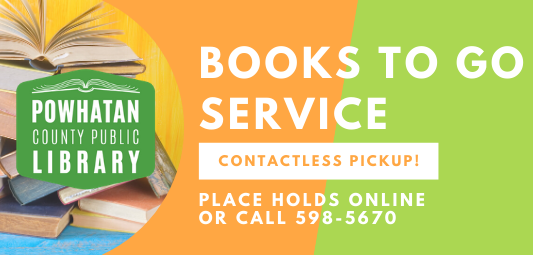 Beginning June 15 PCPL presents the Books to Go Service. Contactless pickup. Just play your holds on